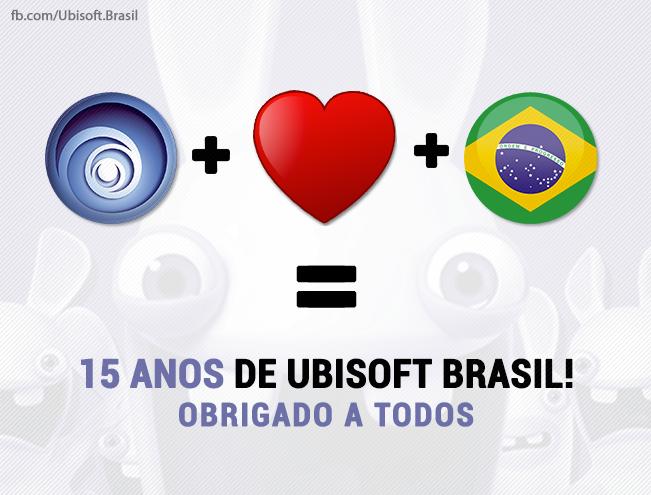 Ubisoft comemora 15 anos de Brasil