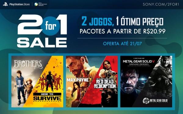 PlayStation Store lança promoção 2 por 1