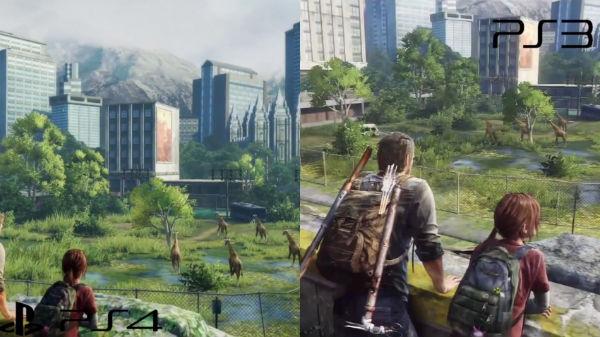 Comparação entre The Last of Us do PS4 e PS3