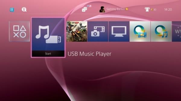 Músicas E temas no PS4