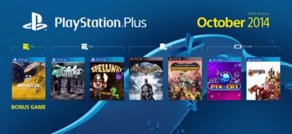 PSN Plus Outubro de 2014
