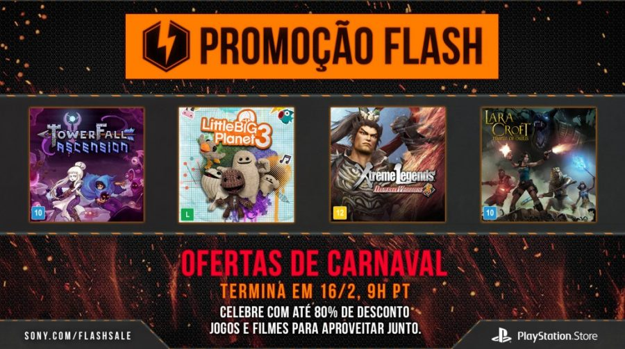 Flash Sale de Carnaval na PlayStation Store
