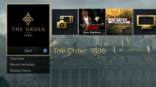 Como obter o tema dinâmico do The Order:1886
