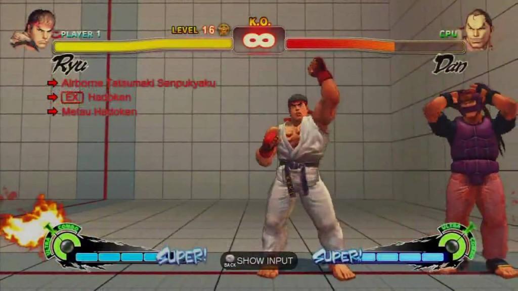 Street Fighter IV - Challenge Mode