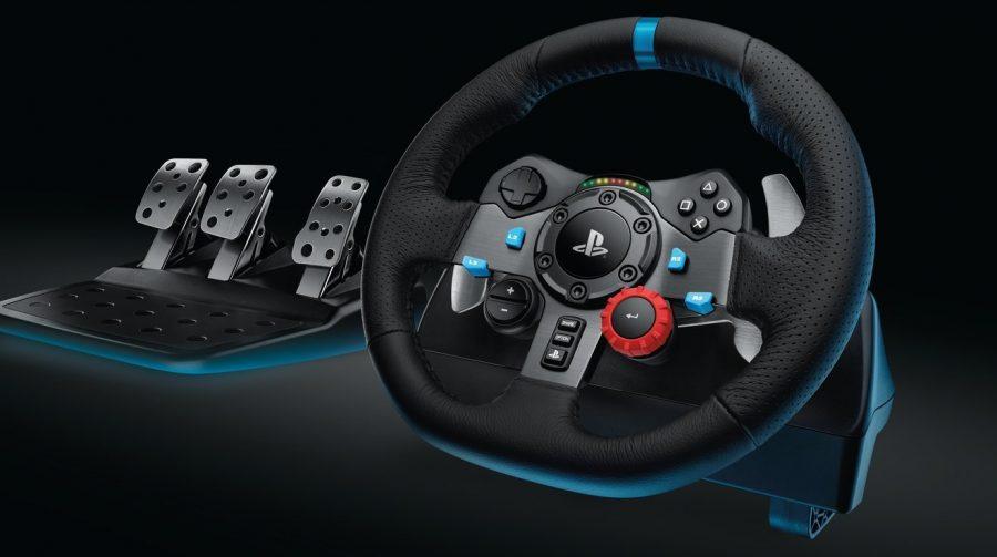 Volante Logitech G29 compatível com PS4 é listado em loja