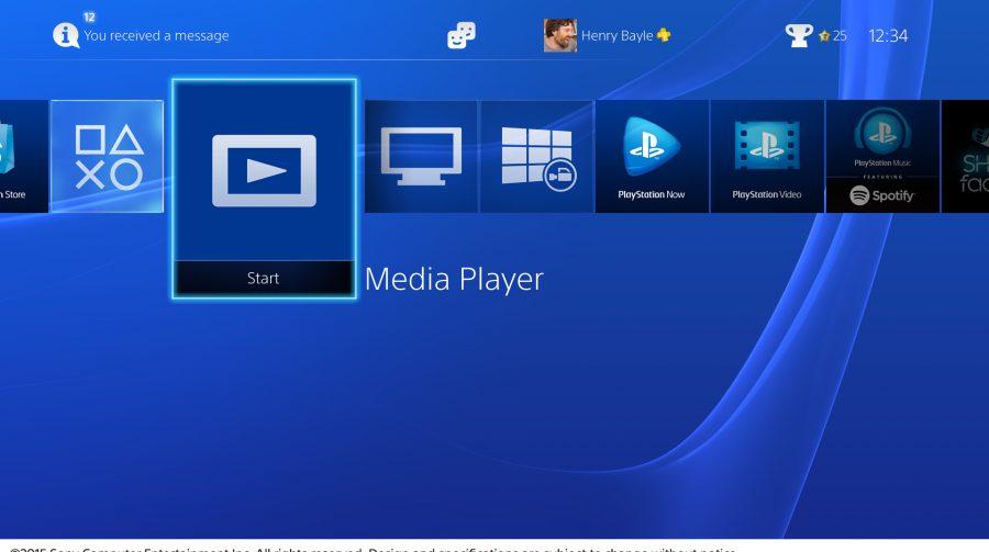PS4 recebe Media Player
