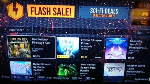 Lista de jogos da Flash Sale vaza na PSN