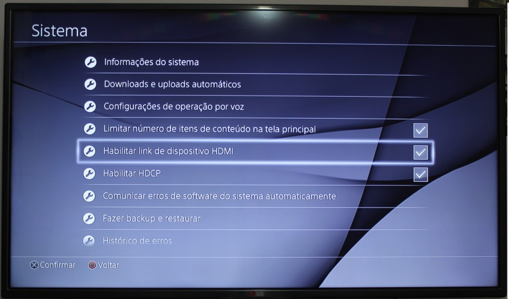 Imagem 2 – Link HDMI PS4