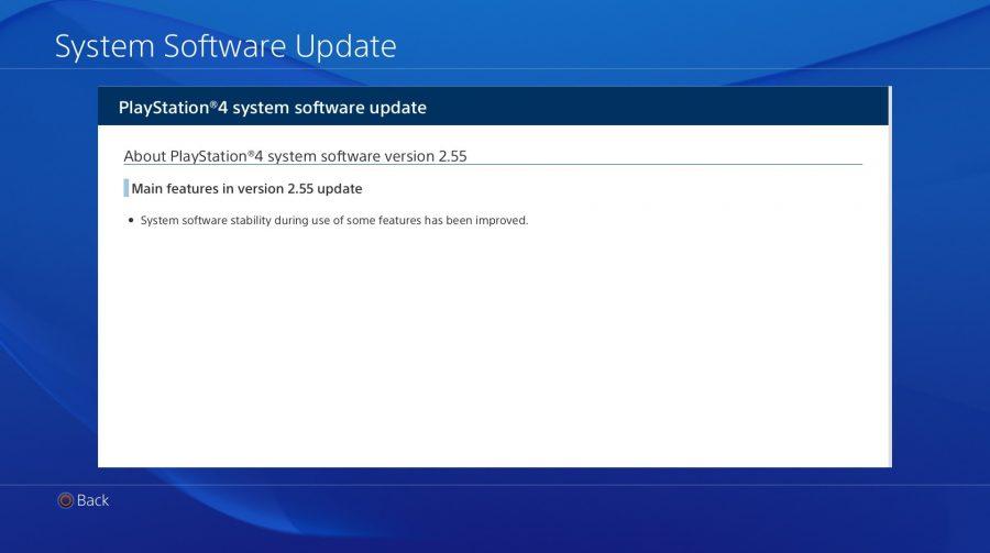 Sony disponibiliza o Update 2.55 para PS4