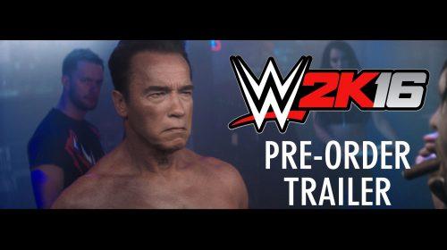 Arnold Schwarzenegger estará no game WWE 2K16