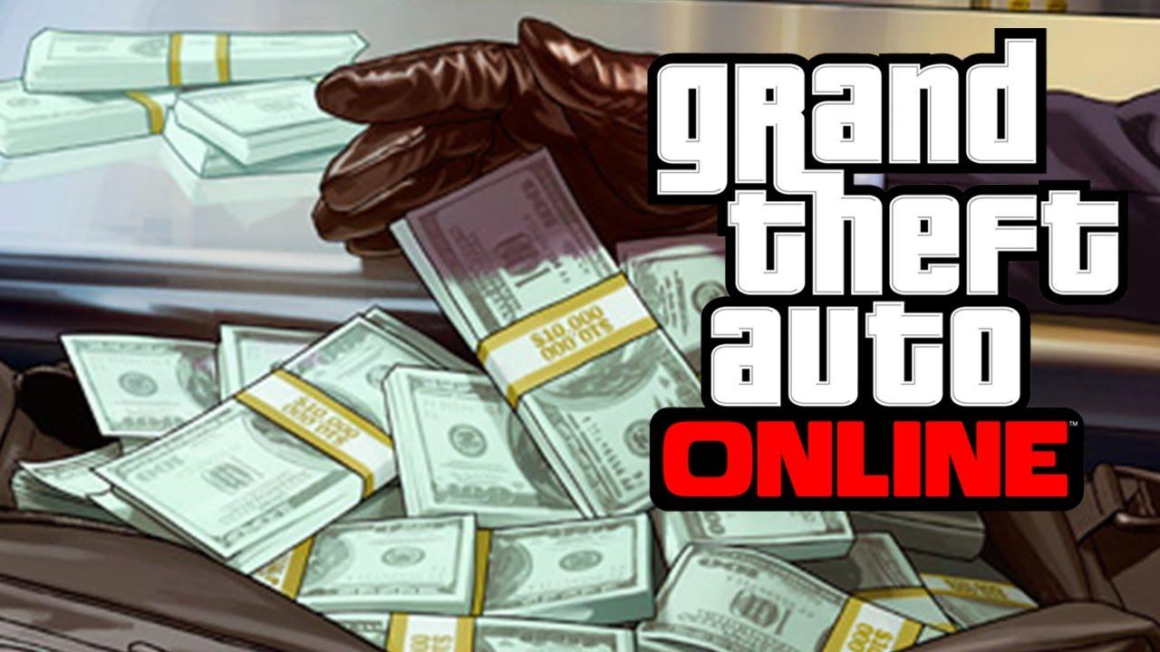 Imagem com uma maleta cheia de dinheiro do modo online de GTA V