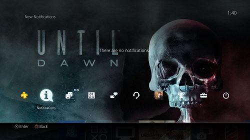 Sony disponibiliza tema dinâmico gratuito do Until Dawn