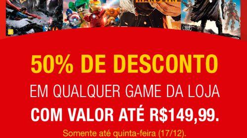 Promoção: Jogos com 50% de desconto nas Lojas Americanas