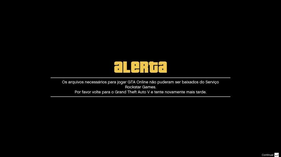Servidores de GTA Online no PS4 passam por manutenção