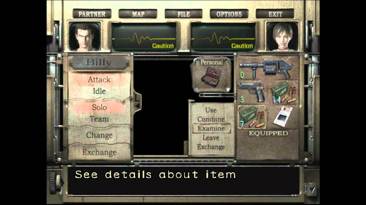 Resident Evil 0_Inventário