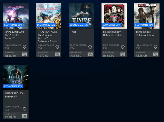 Sony anuncia Square Enix Sale na PlayStation Store