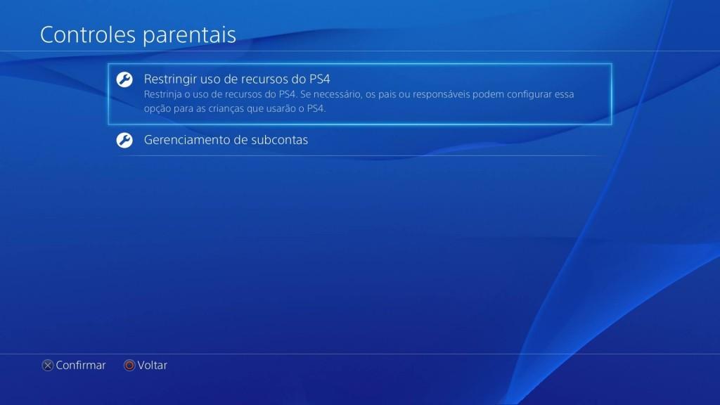 Subconta PS4