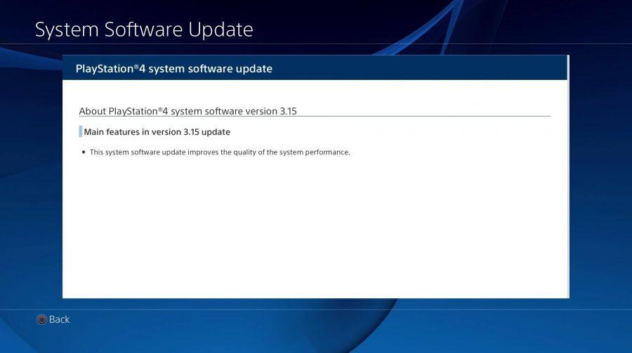 Sony disponibiliza Update 3.15 para PS4