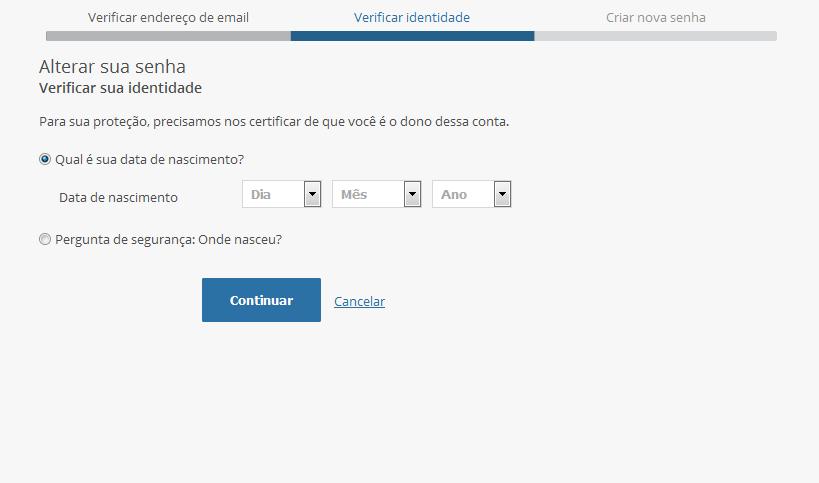 Verificar identidade login PSN