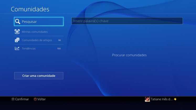 Comunidades do PlayStation 4 recebe ferramenta de busca; entenda 2