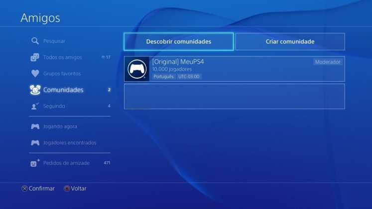 Comunidades do PlayStation 4 recebe ferramenta de busca; entenda 1