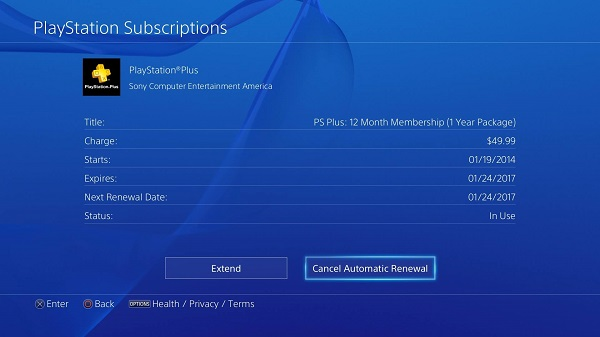 playstation plus expirar