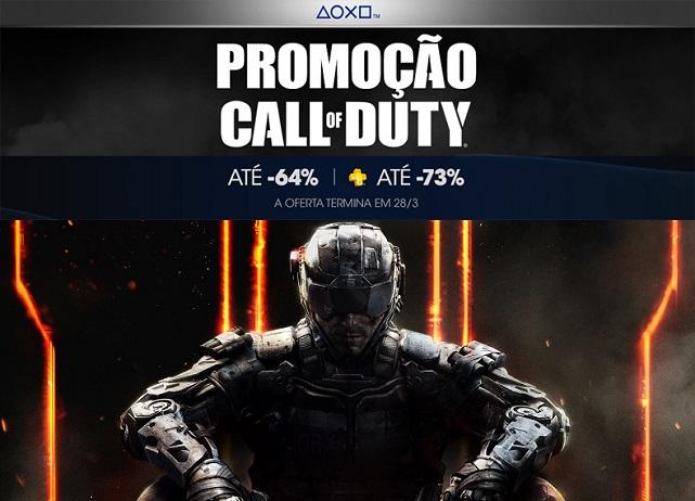 Jogos Call of Duty estão em promoção na PSN