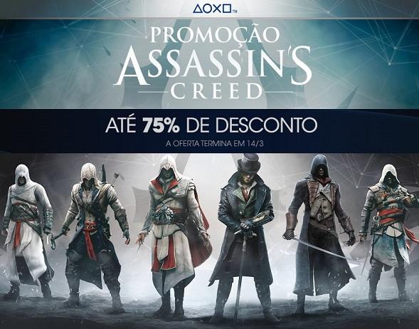 Jogos Assassin's Creed estão em promoção na PS Store