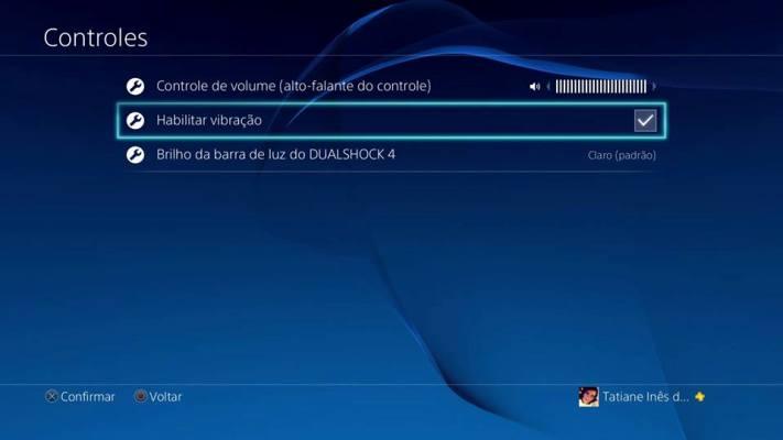 Habilitar vibração DualShock 4
