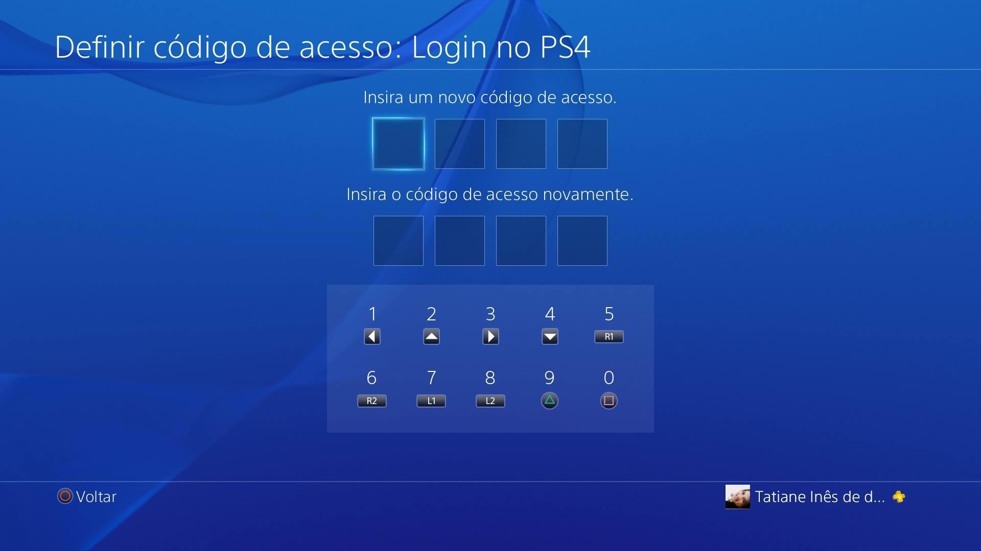 Código de acesso PS4