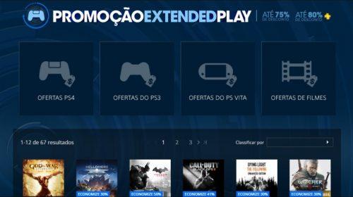 Promoção Extended Play traz mais de 60 jogos com desconto