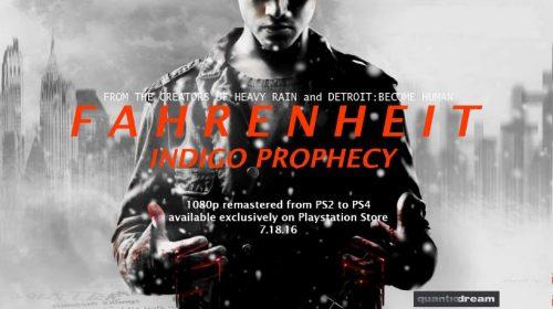 Fahrenheit: Indigo Prophecy chegará ao PS4 em julho