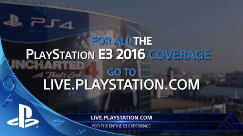 Assista a Livecast PlayStation na E3 2016 e ganhe brindes!