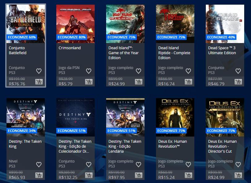 Flash Sale na PSN oferece até 80% de descontos; confira 7