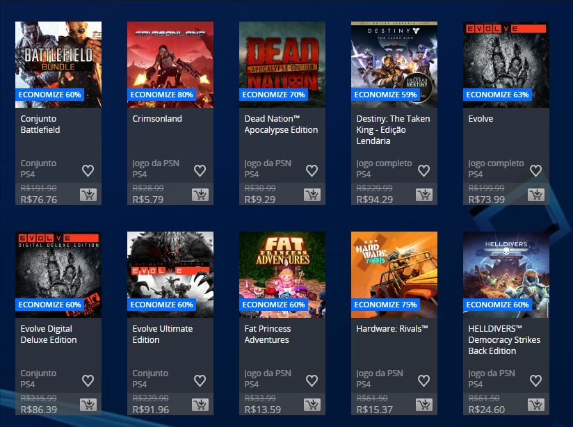 Flash Sale na PSN oferece até 80% de descontos; confira 2