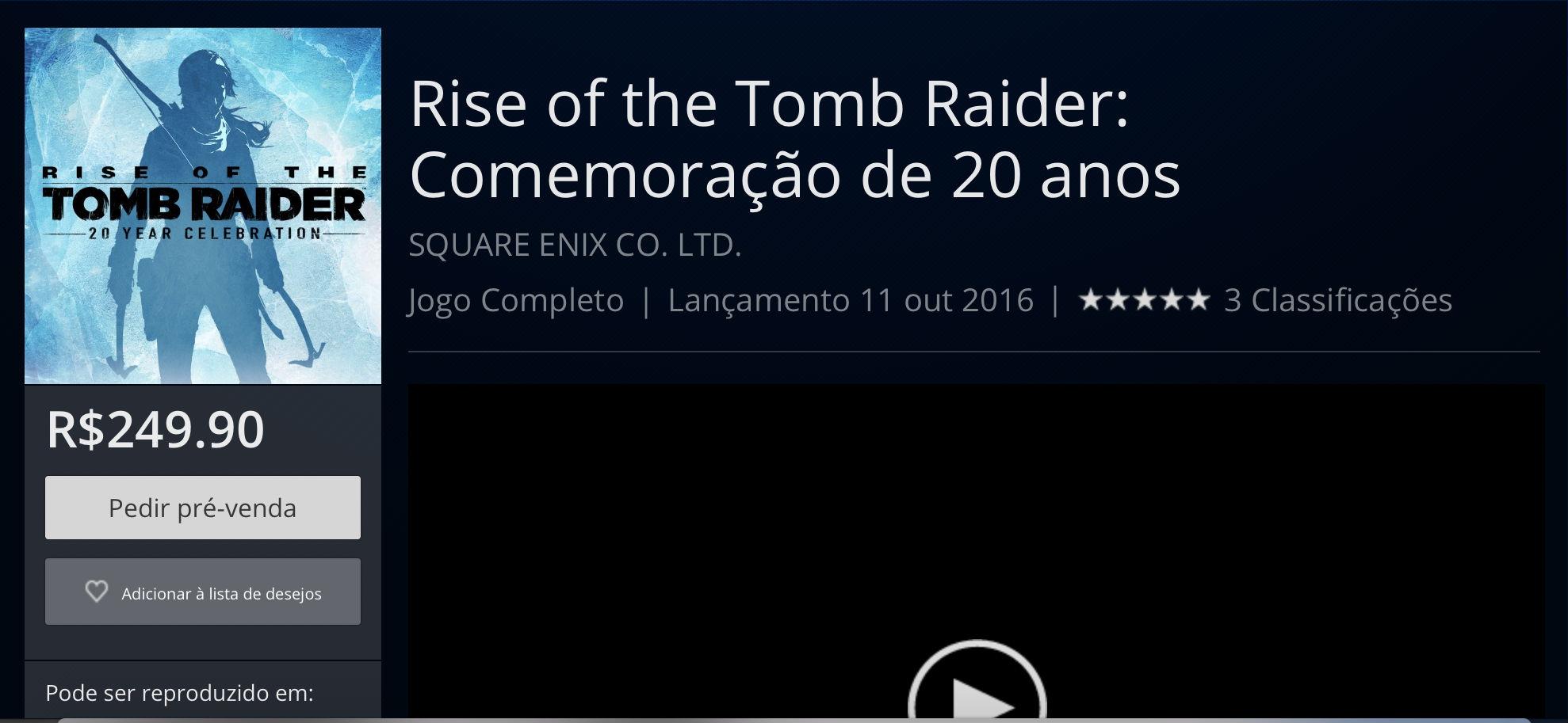 Rise of the Tomb Raider_pré-venda