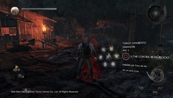 É possível enfrentar os fantasmas dos jogadores que morreram em determinado local