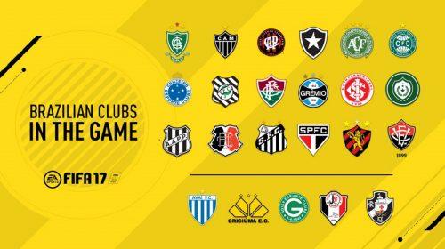 FIFA 17 contará com 23 times brasileiros, incluindo série A e B