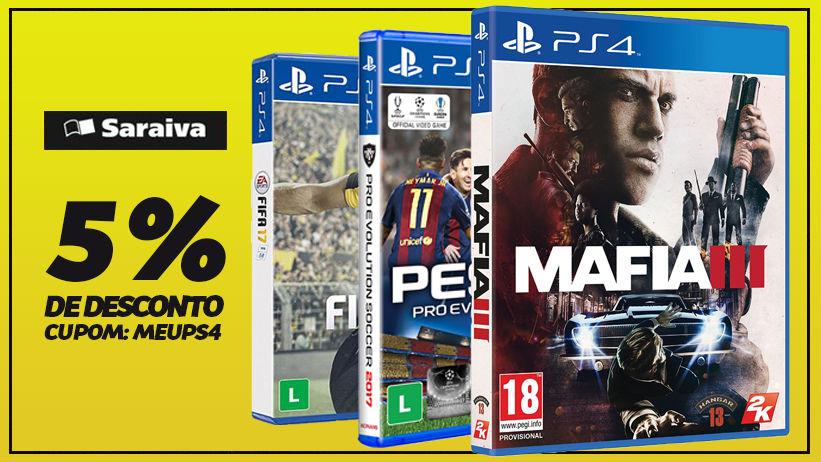 Saraiva oferece bons descontos em jogos de PS4; veja lista