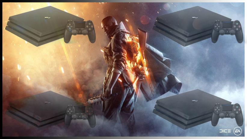 Compare: Battlefield 1 e Uncharted 4 no PS4 Pro em 4K