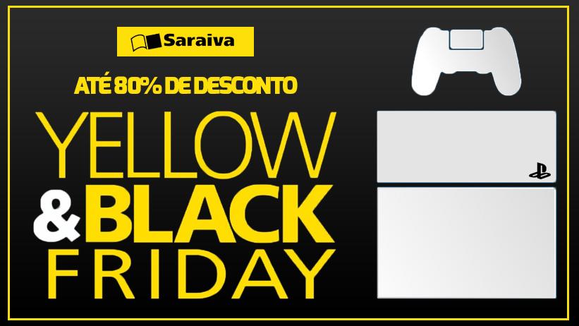 A verdadeira Black Friday dos games é na Saraiva; veja