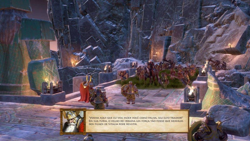 A mitologia do jogo é bastante fiel à obra original. Se você já a leu, vai perceber inúmeras referências