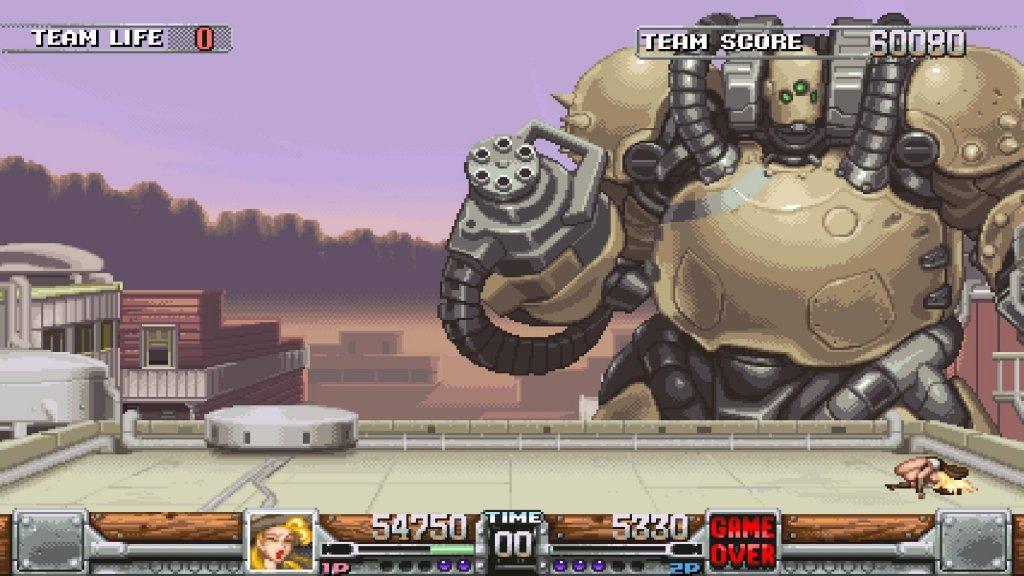 Nada mais comum que atirar em robôs gigantes no meio do velho oeste...
