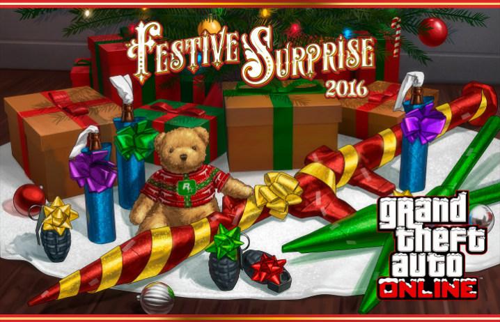 Rockstar Games anuncia Festive Surprise 2016 para GTA V; confira