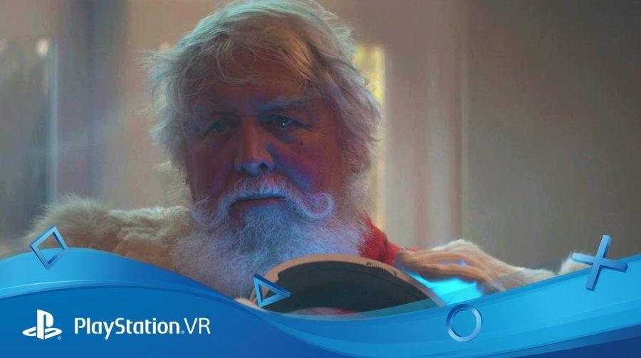 Em comercial de Natal, Papai Noel joga PlayStation VR