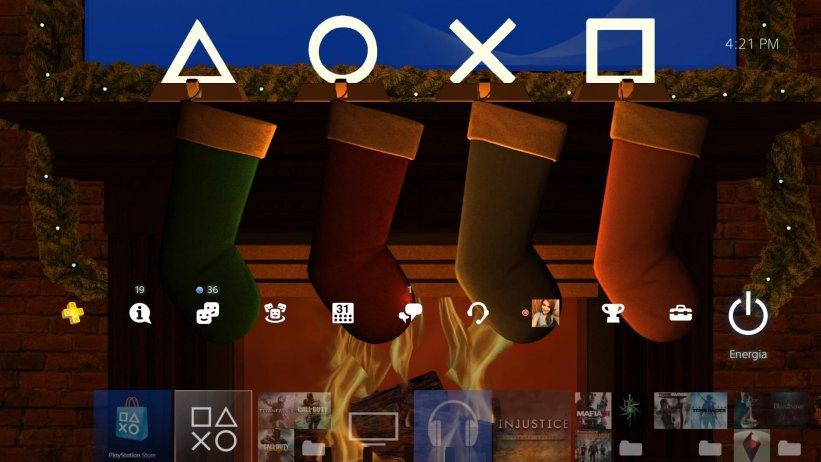 Sony envia tema comemorativo de Natal; veja imagens