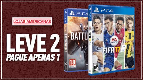 Lojas Americanas lança promoção em games: Leve 2, pague 1!