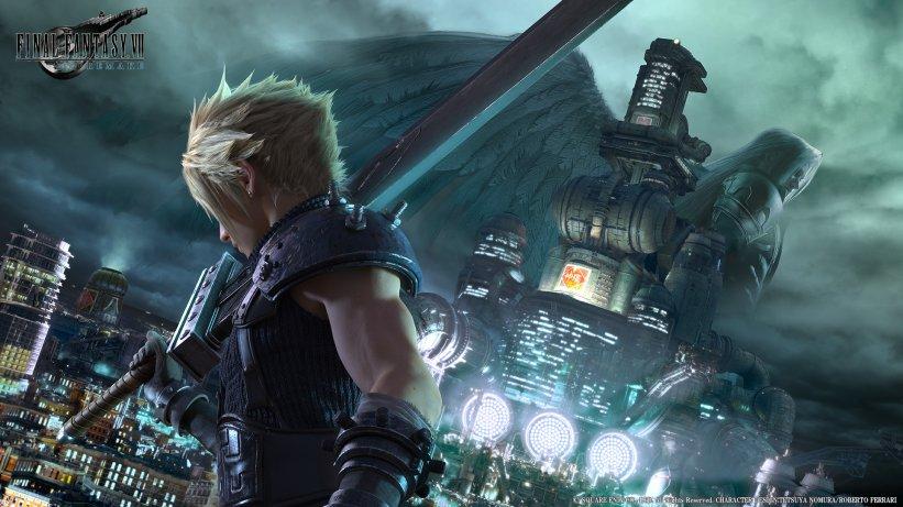 Nova imagem conceitual de Final Fantasy VII Remake mostra sua grandeza