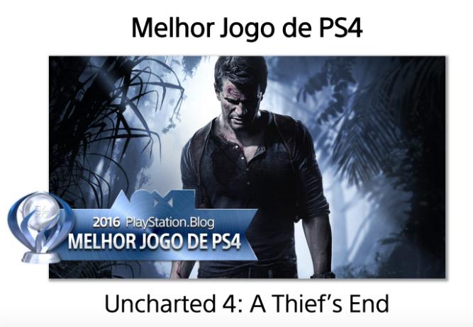Novidade! Uncharted 4 é eleito o GOTY de 2016 pela PlayStation