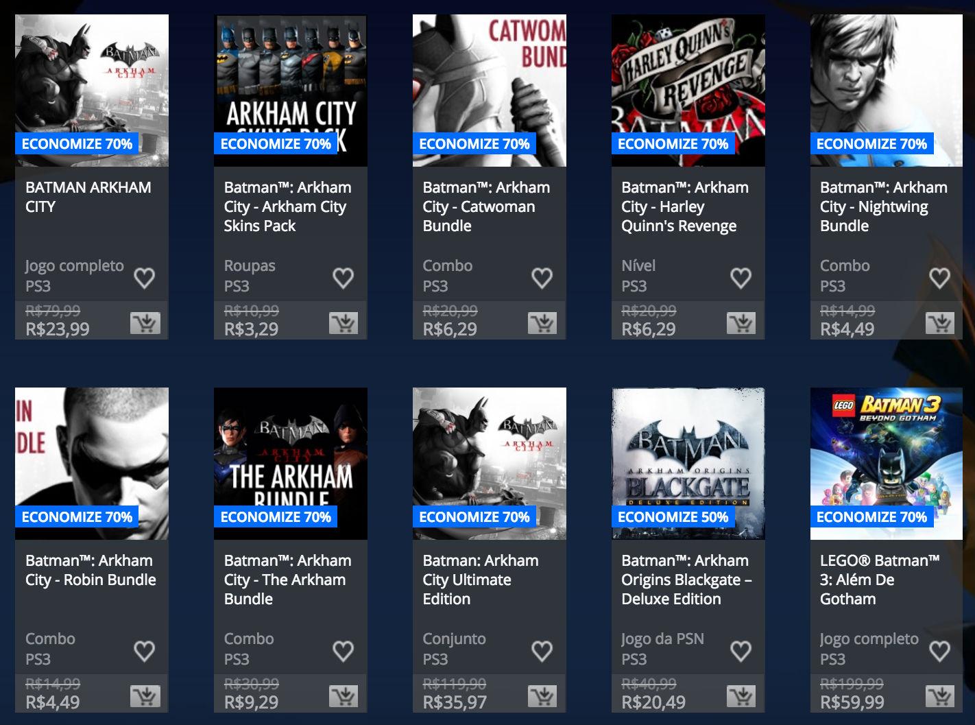 """Sony revela """"Promoção de Batman"""" na PlayStation Store; veja preços 4"""